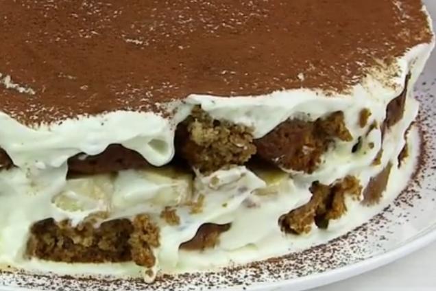 Быстрый торт из печенья