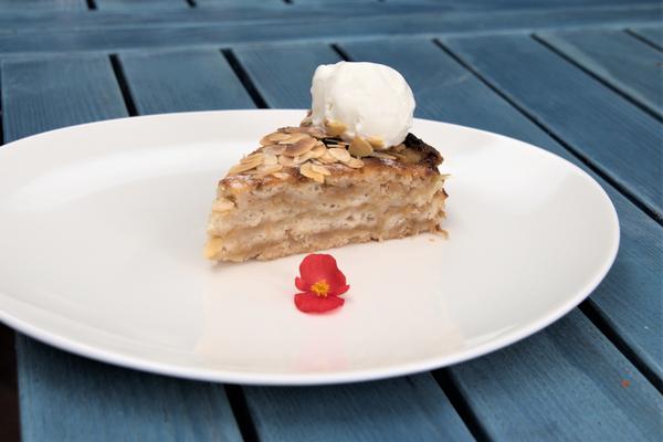Ленивый яблочный пирог ''Три стакана''