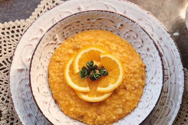 Тыквенно-апельсиновая каша