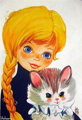 Маленька школярка показує свою кицьку ...