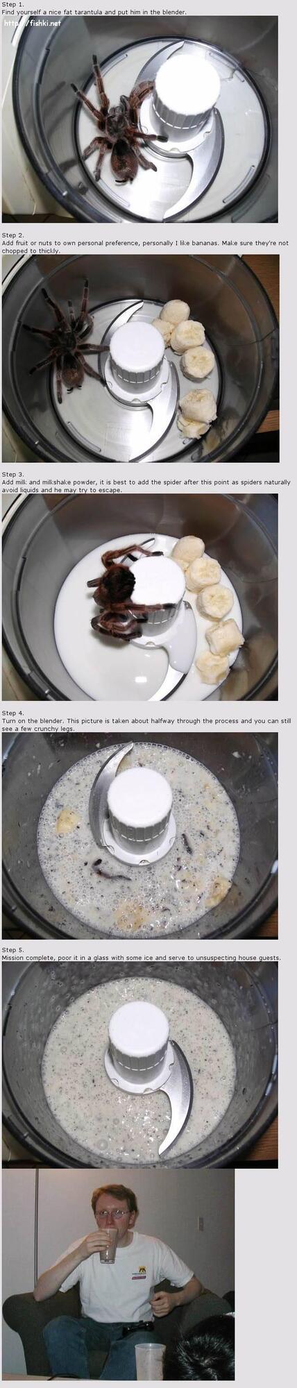 Шокирующий завтрак. Паукоед