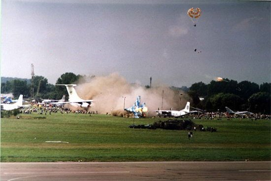 Катастрофа літака Су-27 на авіасалоні у Львові