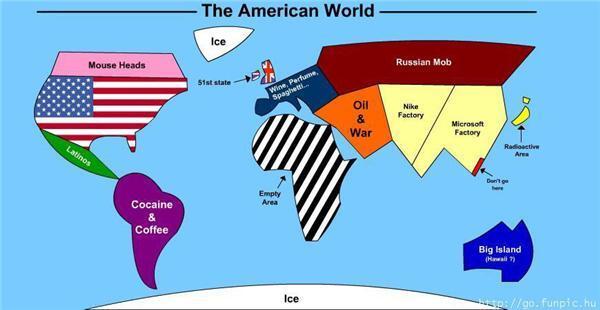 Таким американці представляють світ