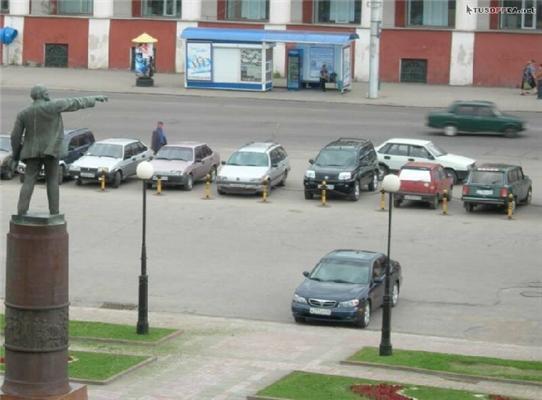 Парковка - там!