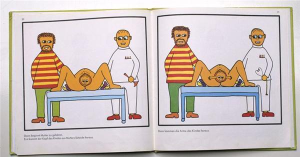 """Немецкая книжка """"Откуда берутся дети"""""""