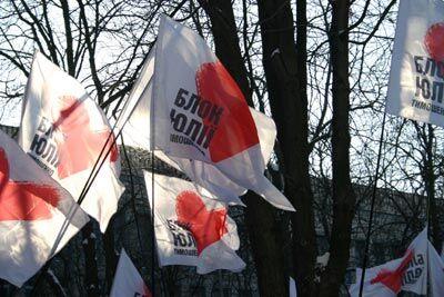 Акція протесту БЮТ перед штабом Партії регіонів 22.01.06. Частина 3