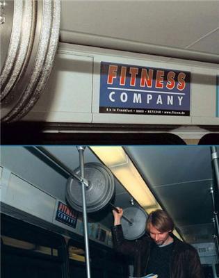 Реклама фітнес-залу
