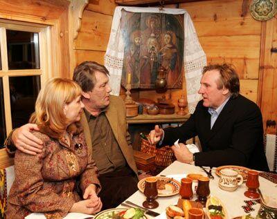 Ющенко накрив поляну для Депардьє