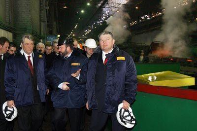"""Ющенко на """"Запоріжсталі"""""""