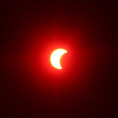 Затемнення сонця. Фото