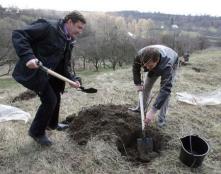 Министров вооружили лопатами