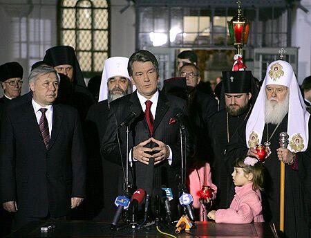 Благодатный огонь для Украины