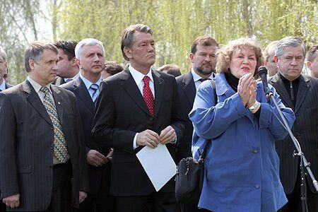 Президент Украины в зоне