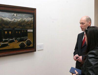 Как открывали выставку Нико Пиросмани
