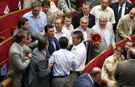 Парламентський мордобій. Фоторепортаж з ВР