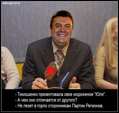 """Кислий Янукович і морозиво """"Юля"""""""