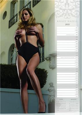 Найгарніший календар з Keeley Hazell на 2008 рік. ФОТО