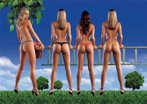 Залікова реклама стрінгів. Навіть чоловіки носили б. ФОТО