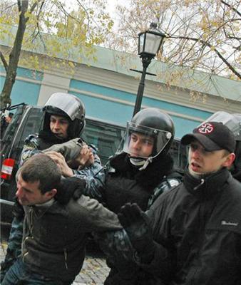У центрі Києва міліція затримала 25 унсовців