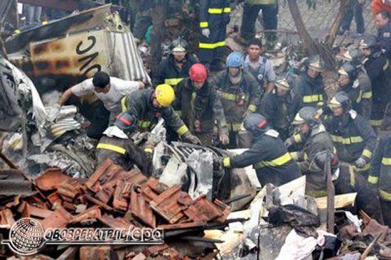 Авіакатастрофа в Бразилії. Літак впав на житловий будинок
