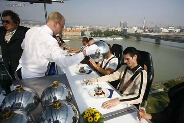Вы уже покушали? Обед в небе за 7900 евро. ФОТО
