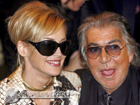 Каваллі на показі в Мілані щосили залицявся з Шерон Стоун