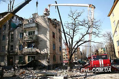 Взрыв дома в Кривом Роге. Фоторепортаж с места события