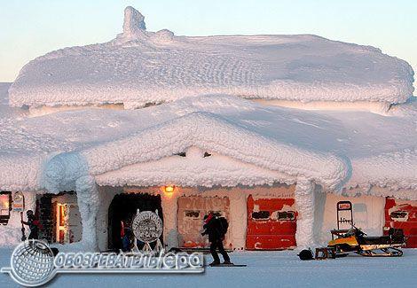 Обледенілий курорт - царство снігу і льоду. ФОТО