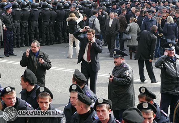 Блокада Конституционного Суда в Киеве. Фоторепортаж