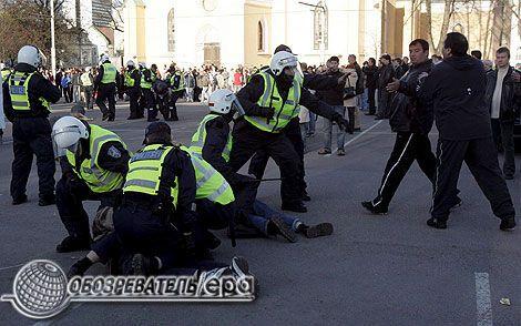 Горячие парни устроили погромы и мародерство в Таллине. ФОТО