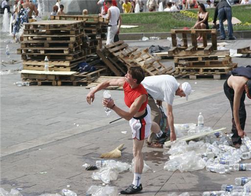 «Группа поддержки» Януковича исчезла с Майдана