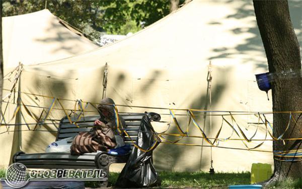 Будни палаточного городка. Фоторепортаж