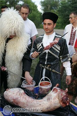 Як козаки з джигітами на Дніпрі гуляли. Фоторепортаж