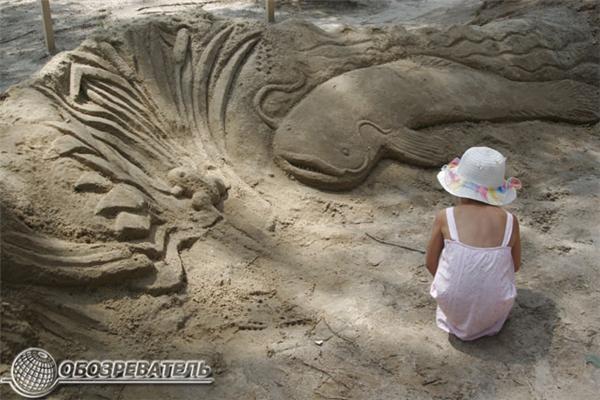 """Фестиваль пісочної скульптури """"LongArt"""" на Трухановому. Фото"""