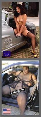 Чем ЕС отличается от США?Девушки демонстрируют наглядно.ФОТО