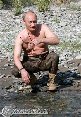 Оголений торс Путіна підкорив світ. Фоторепортаж