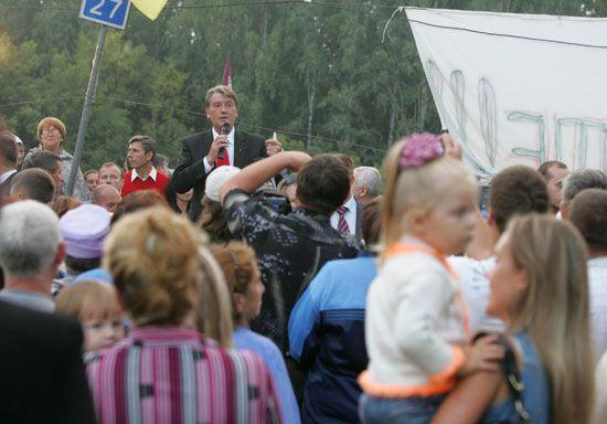 Ющенко вже завтра поверне землю селянам. ФОТО