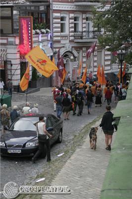Захищаючи Андріївський узвіз. Фоторепортаж