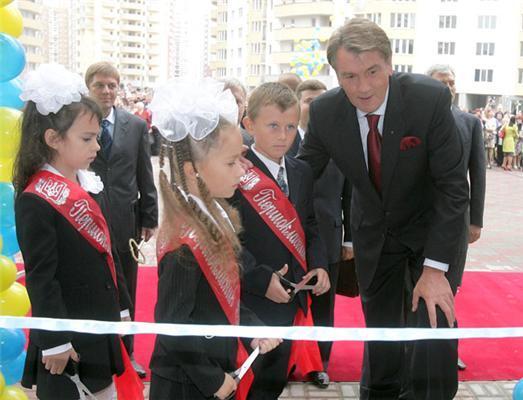 И президентская дочь пошла в школу 1 сентября. ФОТО