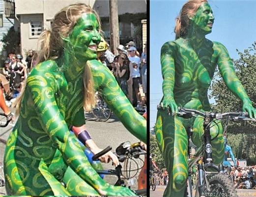 Разделся, разрисовался - и на велотрек!
