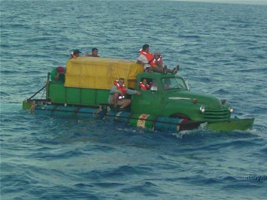 Плавающие машины-подлодки кубинских нелегалов