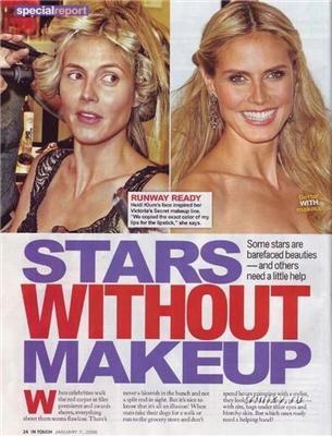 Звезды без макияжа. Жуткое зрелище
