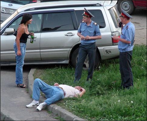 Милиция с народом. Пьяная, хамоватая и просто смешная...
