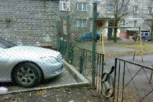 Изощренное наказание за неправильную парковку!