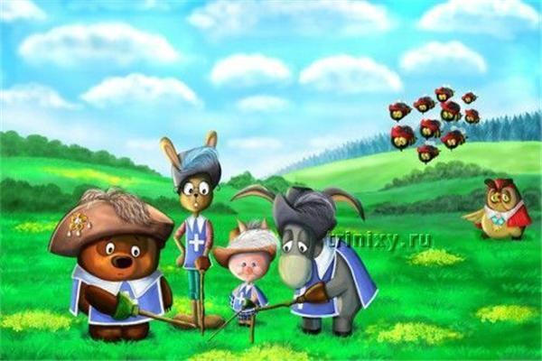 Вінні-Пух з друзями як герої різних фільмів