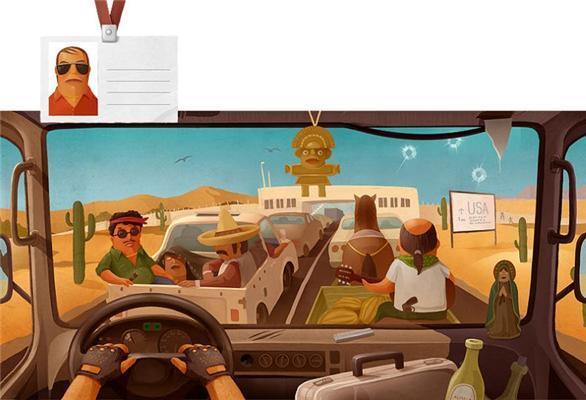 Виды из кабин дальнобойщиков в разных странах