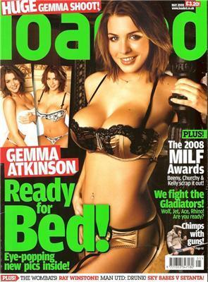 Gemma Atkinson в Loaded. Черное белье ей к лицу