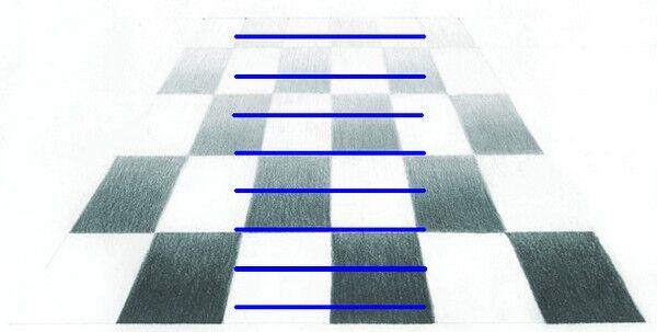Линия к линии, звездочки в ряд... Иллюзия Понцо