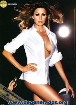 Rebecca Loos в журналі FHM. Декольте не тримає груди