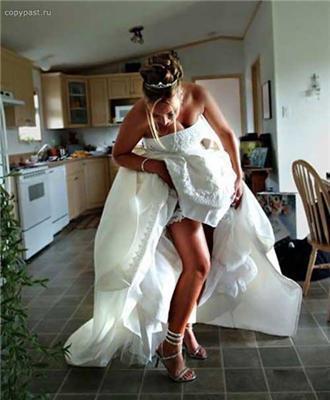 Нареченому завжди цікаво - що під спідницею у нареченої?